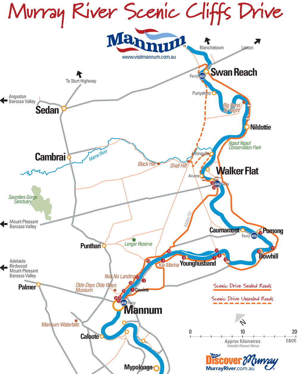 Murray River Scenic Cliffs Drive map