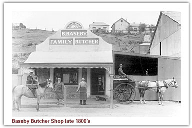 Baseby Butcher Shop late 1800's