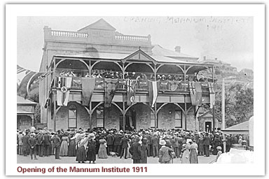 Opening of the Mannum Institute 1911